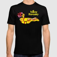 Yellow Serenity SMALL Black Mens Fitted Tee