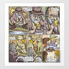 Gold Rush! Art Print