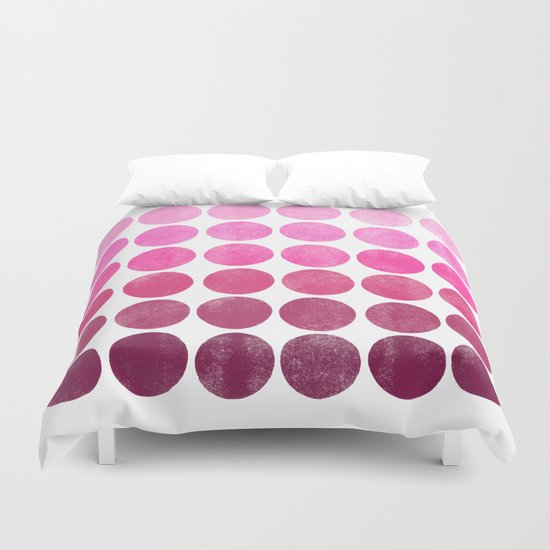 Color Play Pink Duvet Cover