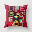 Life is an Experiment Throw Pillow