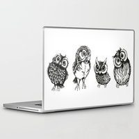owls Laptop & iPad Skins featuring OWLS by Acus