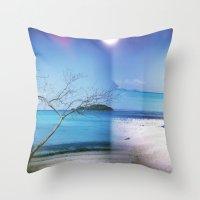 Beach Multiple Exposure Throw Pillow