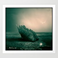 Alien spaceship Art Print