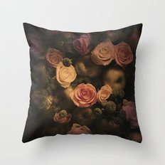 Green apples and Roses Throw Pillow
