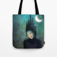 Tote Bag featuring Moonlit Night by Christian Schloe