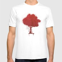 S Tree T Mens Fitted Tee White SMALL