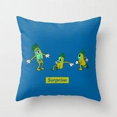 Surprise!! Throw Pillow