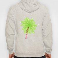 Pattern of Palm Tree-like Flowers Hoody
