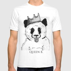 Queen B SMALL White Mens Fitted Tee