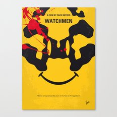 No599 My watch men minimal movie poster Canvas Print