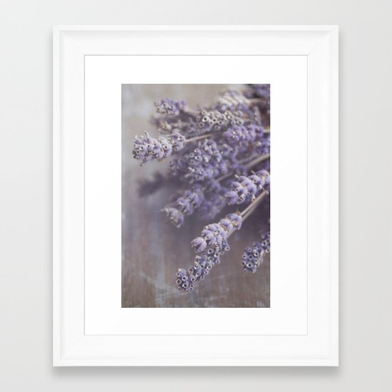 lavande Framed Art Print