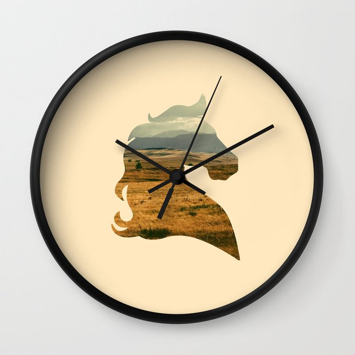 home on the range wall clock by zeke tucker society6. Black Bedroom Furniture Sets. Home Design Ideas