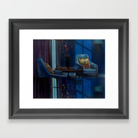 The Twilight Of Cathy Wh… Framed Art Print