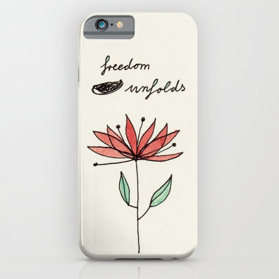 freedom unfolds iPhone & iPod Case