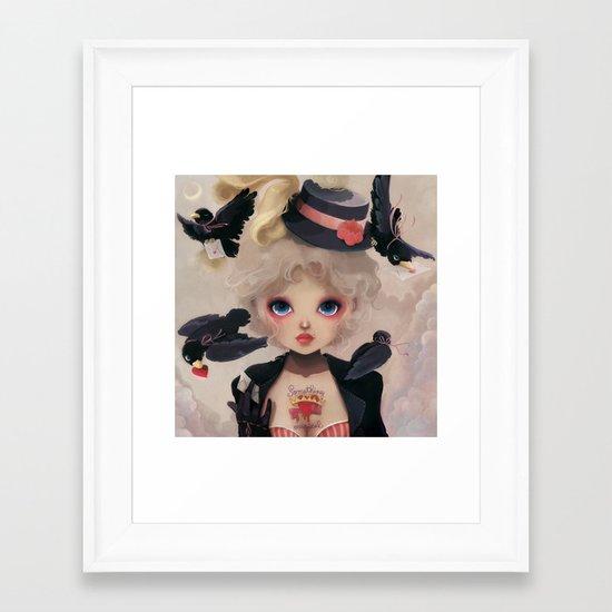 Les petits becs... Framed Art Print