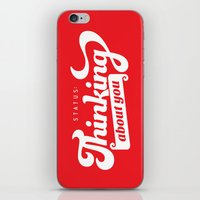 Thinking About You iPhone & iPod Skin
