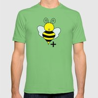 Bee Positive Mens Fitted Tee Grass SMALL