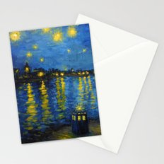 Starry Night Over Cardiff Bay Stationery Cards