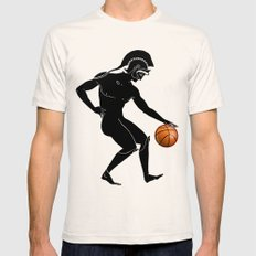 Hoplites Playing Basketball Mens Fitted Tee Natural SMALL