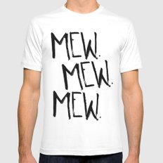 Mew. SMALL Mens Fitted Tee White