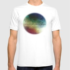 V2:It does not do to dwell on dreams White SMALL Mens Fitted Tee