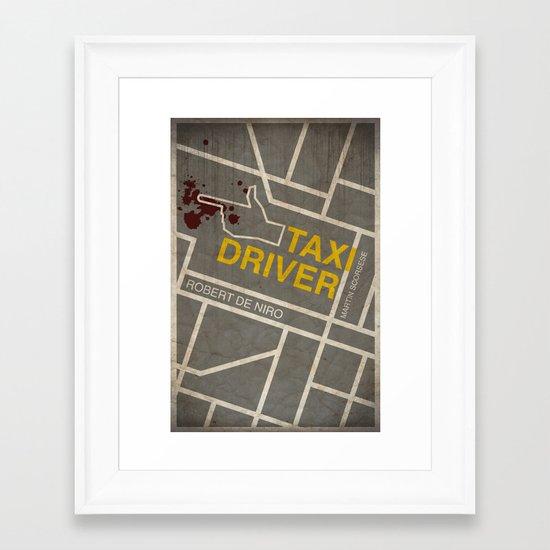 Taxi Driver Framed Art Print
