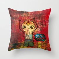 Give me skull Throw Pillow