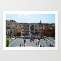 View from Spanish Steps, Rome, Italy Art Print