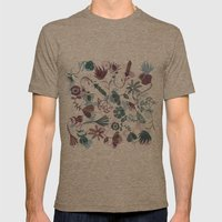 autumn flowers Mens Fitted Tee Tri-Coffee SMALL