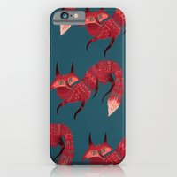 iPhone Cases featuring F O X ! by Karl James Mountford