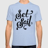 Set Sail Mens Fitted Tee Tri-Blue SMALL