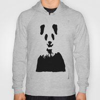 Pandas Blend into White Backgrounds Hoody