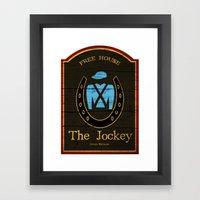 The Jockey - Shameless Framed Art Print