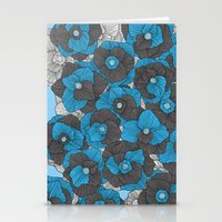 In Bloom (blue & grey) Stationery Cards