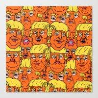 Trump Nightmare Pattern Canvas Print