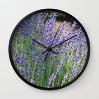 Lavender Wave Wall Clock