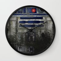 Wall Clock featuring Swamp Droid by BinaryGod.com
