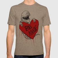 Bursting with Love Mens Fitted Tee Tri-Coffee SMALL