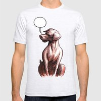 Talking Dogs Mens Fitted Tee Ash Grey SMALL