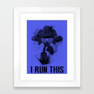 Sonic Boss Black Version Framed Art Print