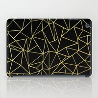 Abstraction Outline Gold on Black iPad Case