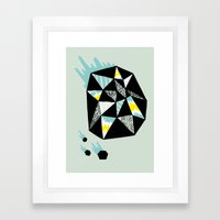Crystalized II Framed Art Print