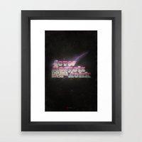 Never Sleep / Lets Rokk Framed Art Print