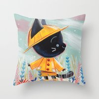 Raincoat 1 Throw Pillow