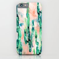 iPhone & iPod Case featuring Sunset Cactus by Nikkistrange