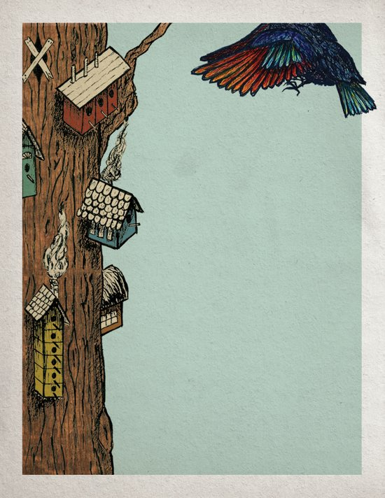 Bird House Art Print