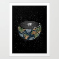 It makes the world go round. Art Print