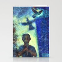 Musician Kid. Stationery Cards