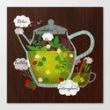 natural herbal tea Canvas Print