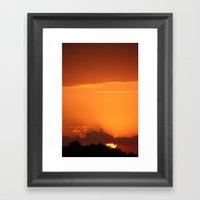 Summer Sunset In Bright … Framed Art Print